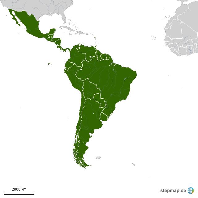 La1 Von Reitzenstein Landkarte Fur Sudamerika