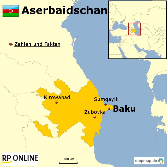 l nder der welt aserbaidschan von rponline reise landkarte f r asien. Black Bedroom Furniture Sets. Home Design Ideas