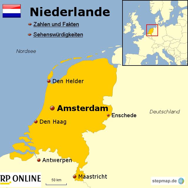 stepmap l nder der welt niederlande landkarte f r niederlande. Black Bedroom Furniture Sets. Home Design Ideas