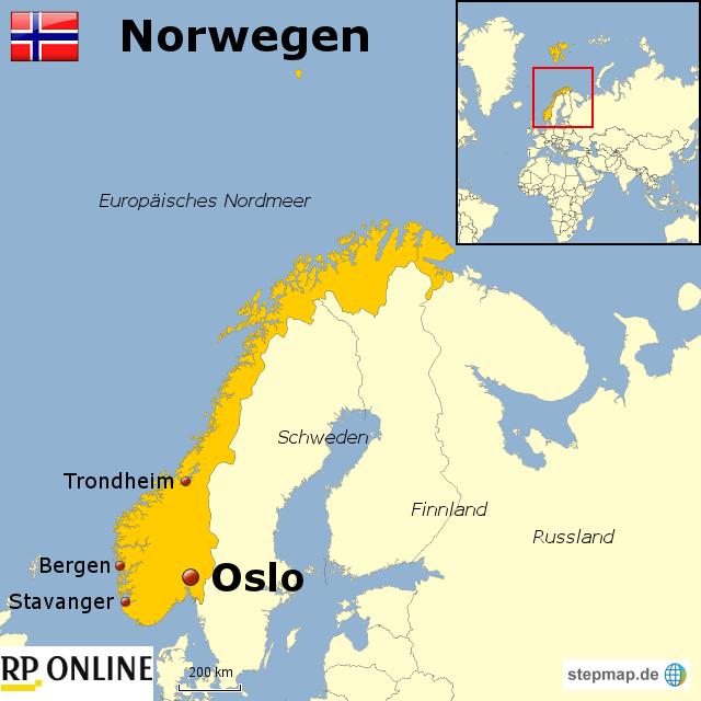 l nder der welt norwegen von rponline reise landkarte f r norwegen. Black Bedroom Furniture Sets. Home Design Ideas