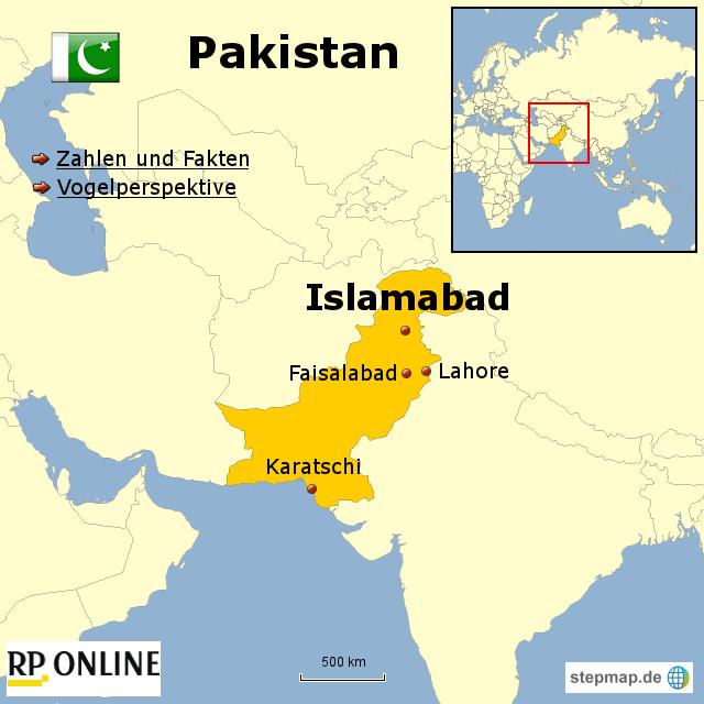 l nder der welt pakistan von rponline reise landkarte f r asien. Black Bedroom Furniture Sets. Home Design Ideas