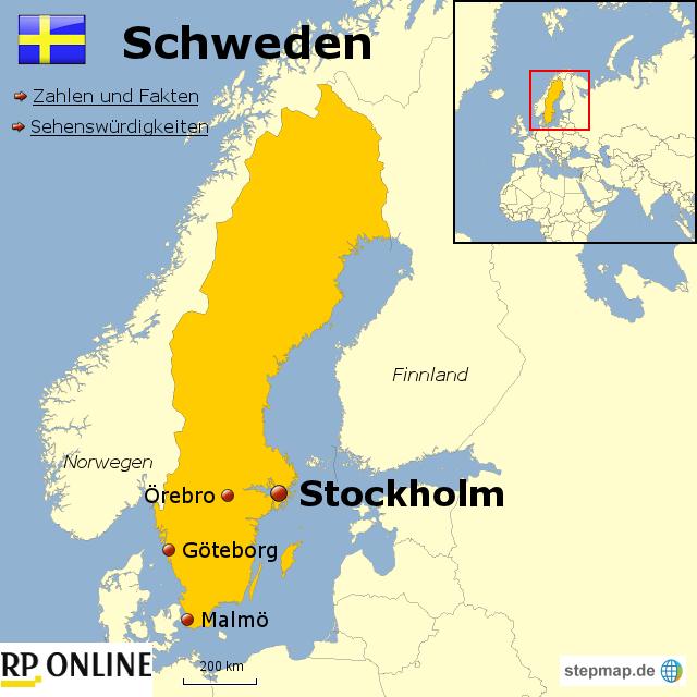 stepmap l nder der welt schweden landkarte f r schweden. Black Bedroom Furniture Sets. Home Design Ideas