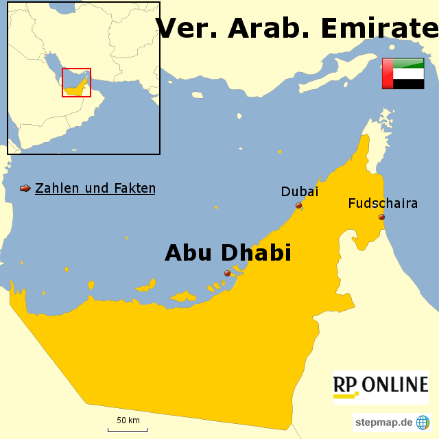 Brief Nach Vereinigte Arabische Emirate : Vereinigte arabische emirate karte