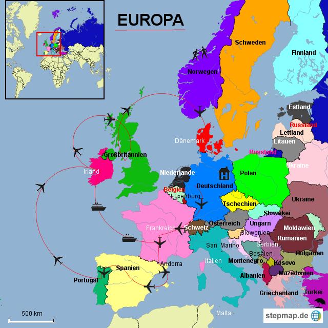 Startseite landkarten welt europa europa karten l nder europas