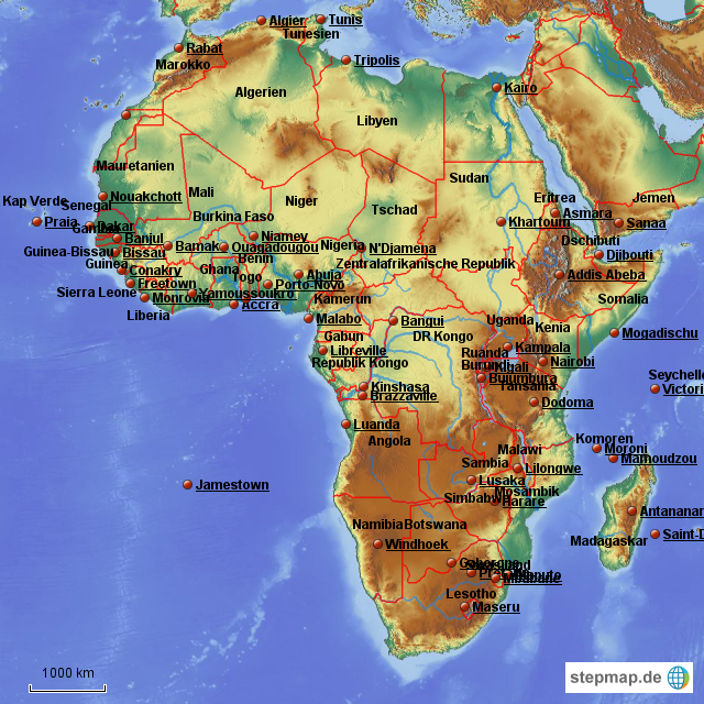 südamerika länder und hauptstädte karte