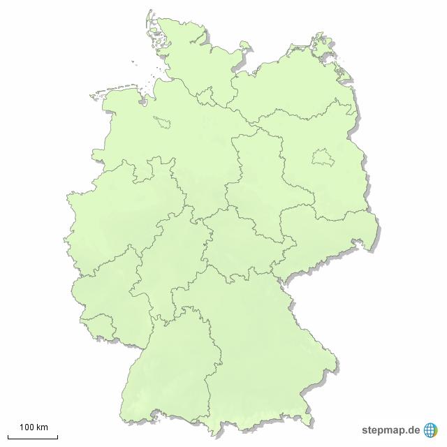 pin landkarte der bundesl nder in deutschland on pinterest. Black Bedroom Furniture Sets. Home Design Ideas