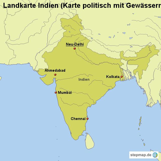 INDIEN KARTE | Dictionary Bank WELTKARTE INDIEN