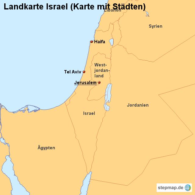 landkarten welt asien israel landkarte israel karte mit städten
