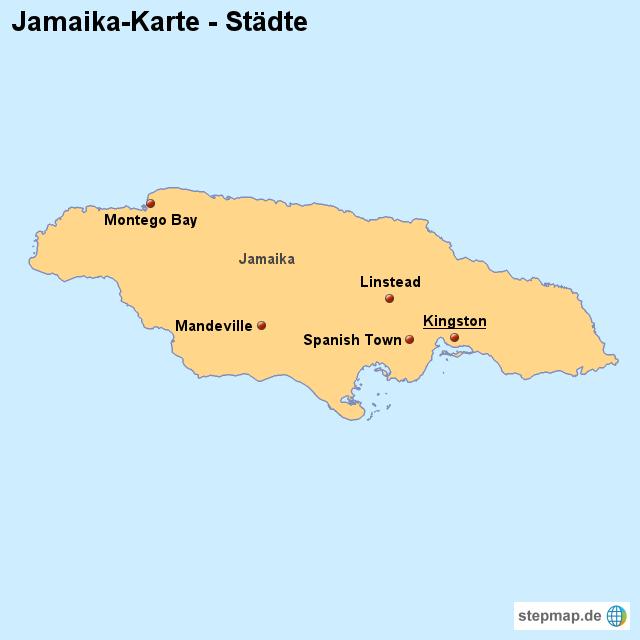jamaika landkarte Landkarte Jamaika (Karte mit Städten) von länderkarte   Landkarte  jamaika landkarte