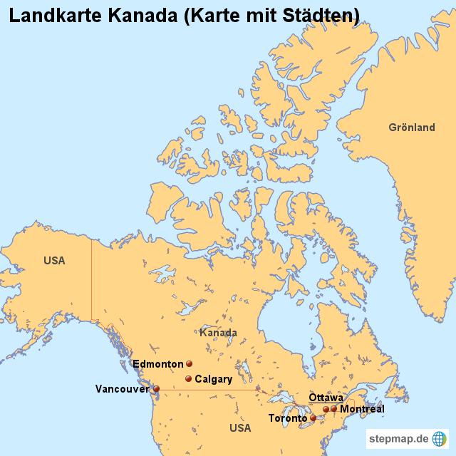 Landkarten welt nordamerika kanada landkarte kanada karte mit städten