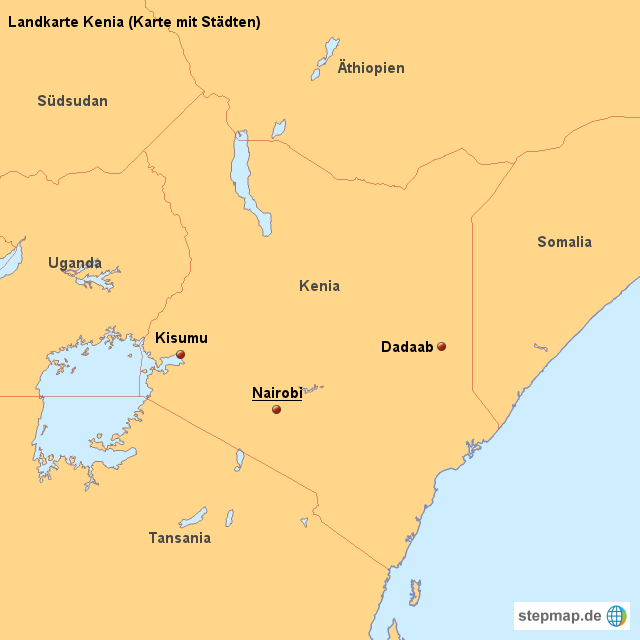 Kenia Karte.Landkarte Kenia Karte Mit Städten Von Länderkarte Landkarte Für