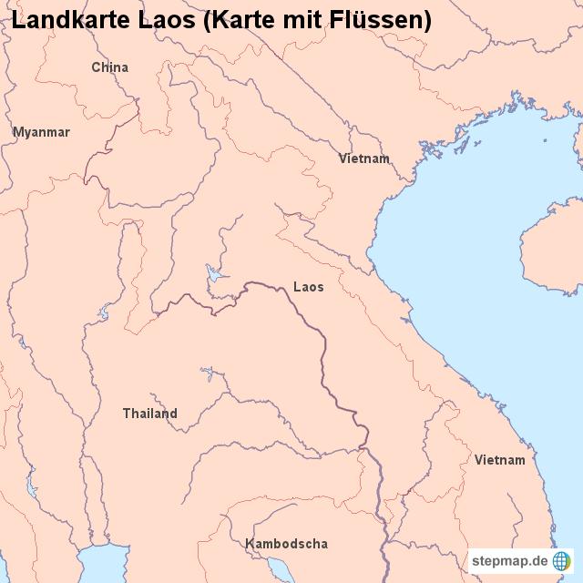Laos Karte.Landkarte Laos Karte Mit Flüssen Von Länderkarte Landkarte Für Laos
