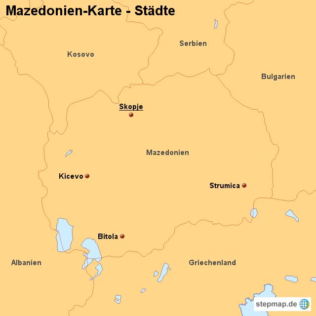 Mazedonien Karte.Landkarte Mazedonien Karte Mit Städten Von Länderkarte Landkarte