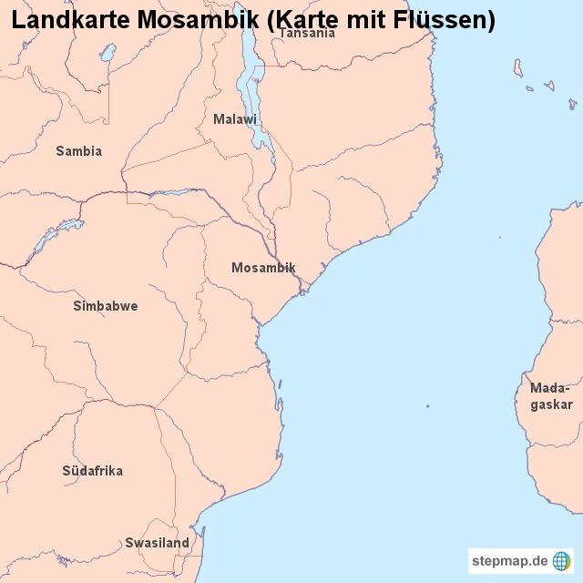 Mosambik Karte.Landkarte Mosambik Karte Mit Flüssen Von Länderkarte Landkarte