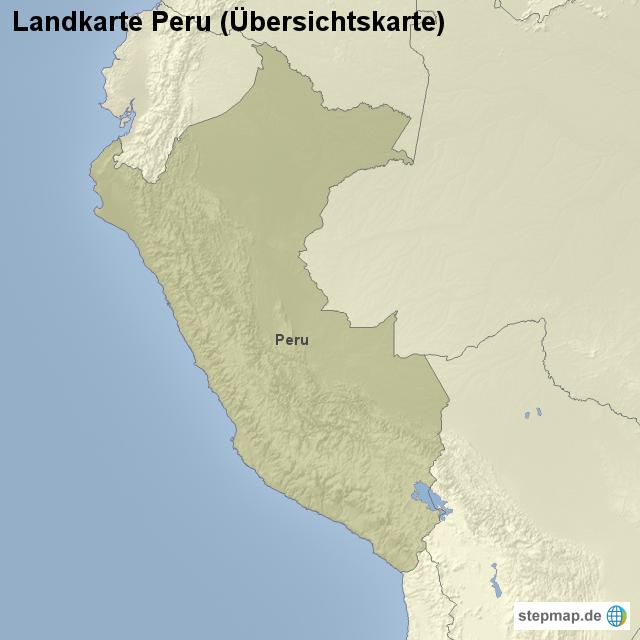 Peru Karte Umriss.Landkarte Peru Ubersichtskarte Von Landerkarte Landkarte