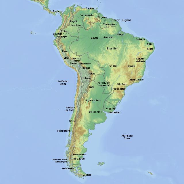 lateinamerika karte Lateinamerika Karte von MillerReisen   Landkarte für Südamerika
