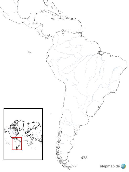 Südamerika Karte Ohne Beschriftung.Lateinamerika Weiß Von Torbenschaefer Landkarte Für Südamerika