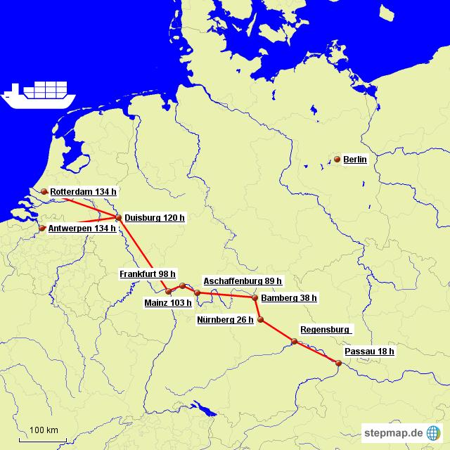brand new a2406 1b106 Leercontainer aus ARA-Häfen von dgeyer - Landkarte für ...