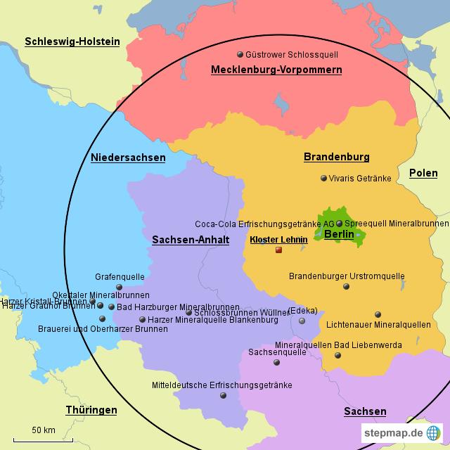Lehnin_Kundenläger_NUR Wettbewerber von LDR - Landkarte für Deutschland