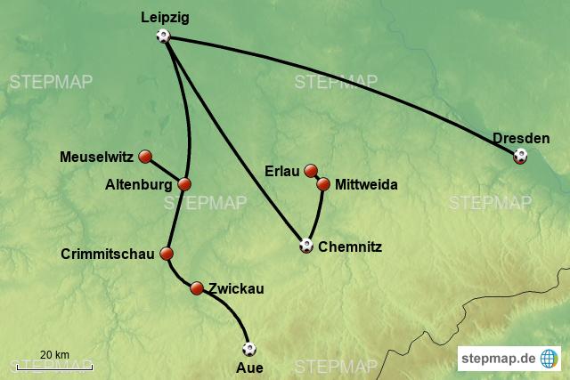 Leipzig Karte Sachsen.Stepmap Leipzig Sachsen 2018 Landkarte Fur Deutschland