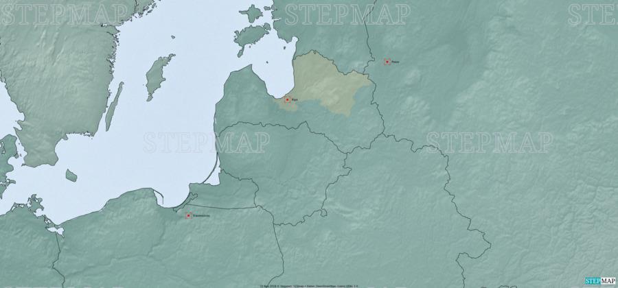 Landkarte: Lettland