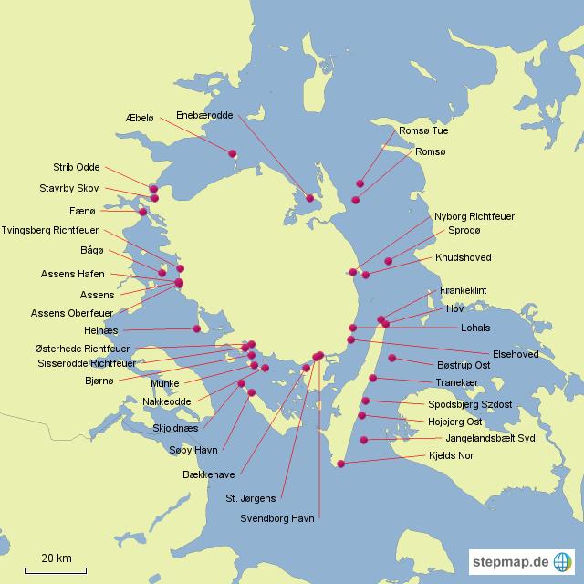 leuchttürme dänemark karte Leuchttürme Dänemark von Chrisma   Landkarte für Dänemark