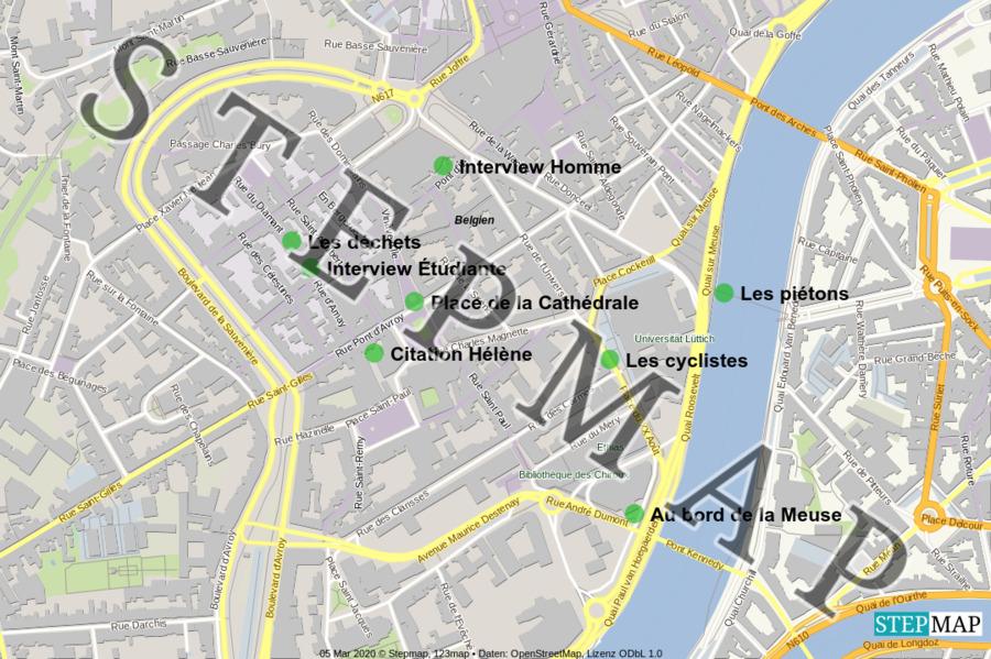 Landkarte: Liège ville verte