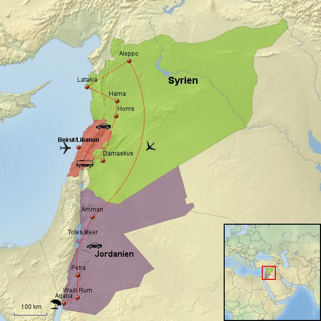 Sicherheit in Jordanien und Syrien Sonstiger Mittlerer