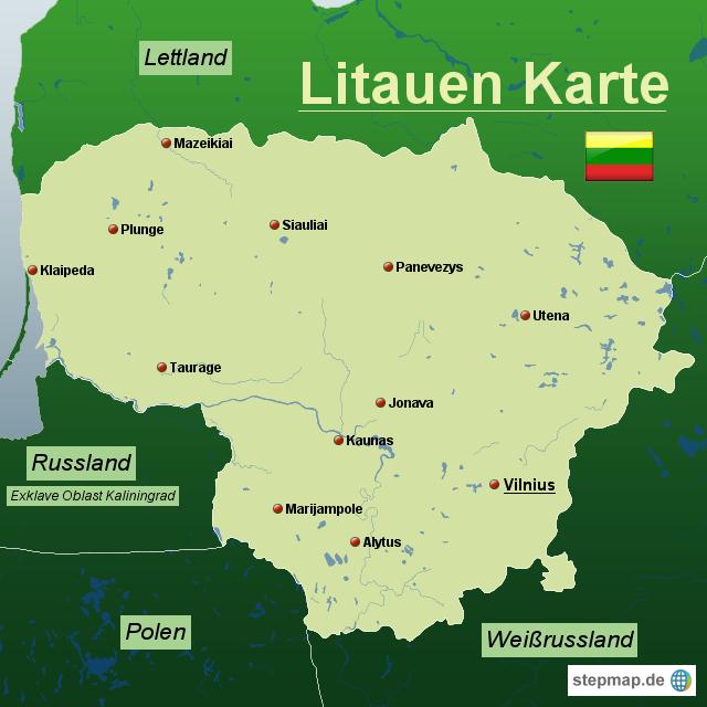 litauen karte Litauen Karte von Karten   Landkarte für Litauen