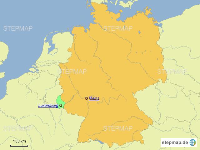 luxemburg deutschland karte Luxemburg von Kiddericher   Landkarte für Deutschland