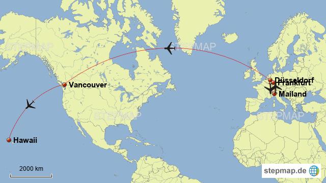 Mailand-Hawaii von pr498te - Landkarte für die Welt