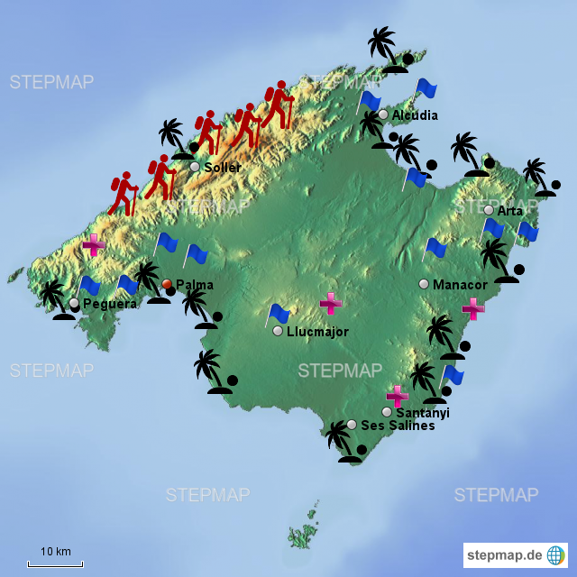Muttermund Auf Mallorca: Mallorca Wandertouren Karte
