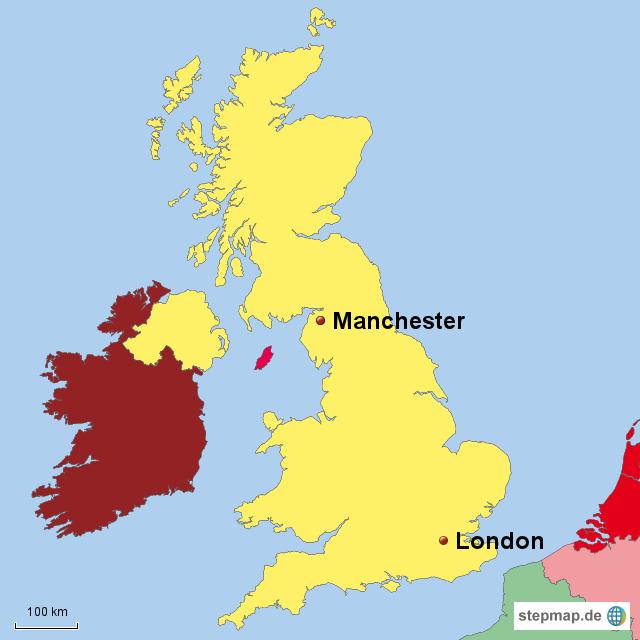 manchester karte Manchester Landkarte | Deutschland Karte