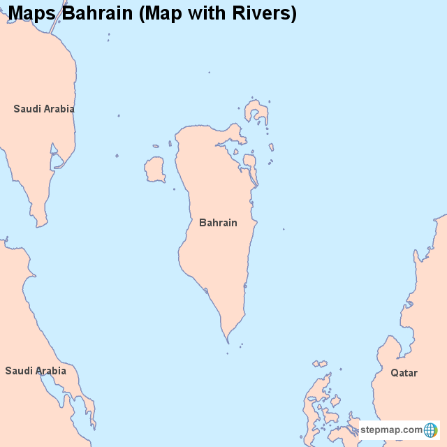 Asien-karten maps bahrain (map with rivers)