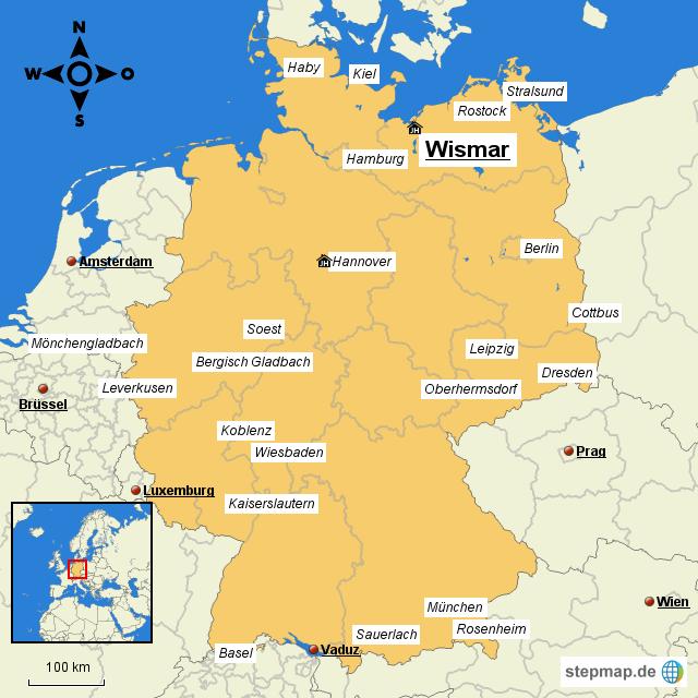 wismar landkarte deutschland MARKENCHECK Wings & Hochschule Wismar von edmuc   Landkarte für