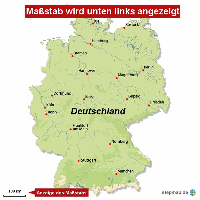 karte deutschland maßstab Maßstab von redaktion   Landkarte für Deutschland