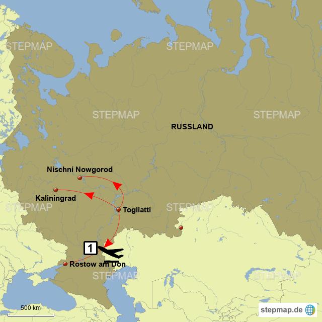 Karte Russland.Stepmap Meine Wm Russland Karte Landkarte Fur Deutschland