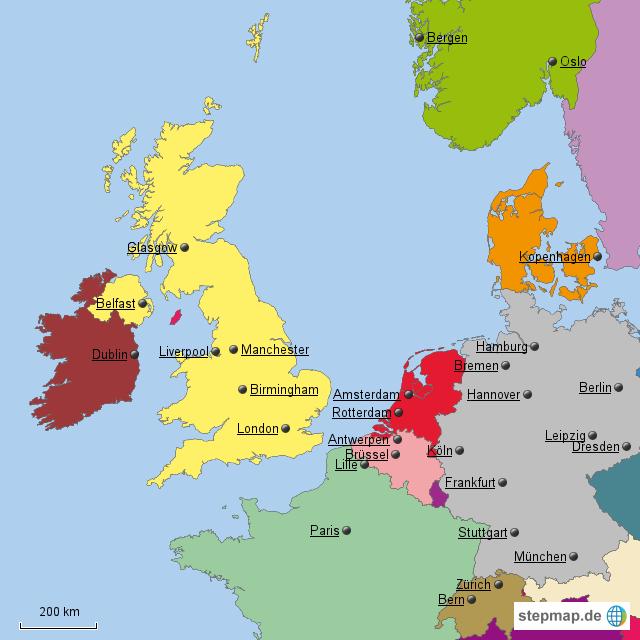 Michi Westeuropa Von Moinsen Landkarte F 252 R Nordwesteuropa