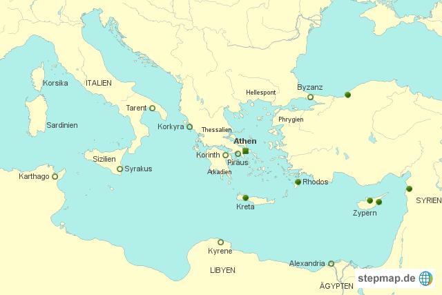 Mittelmeer Karte.Karte Mittelmeer Antike Kleve Landkarte