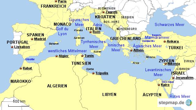 landkarte mittelmeer MIttelmeerraum von franzi_712   Landkarte für das Mittelmeer landkarte mittelmeer
