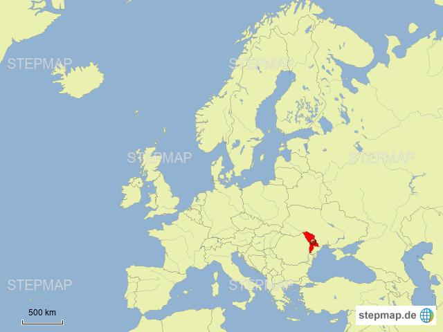Moldau Von Aryu Landkarte Fur Moldawien
