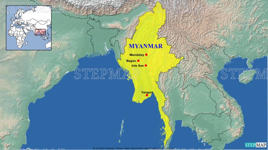 Landkarte: Myanmar