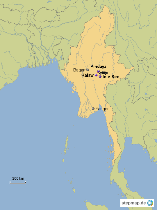 Kalaw Myanmar  City pictures : Myanmar Baustein Kalaw von nadinegehri Landkarte für Burma