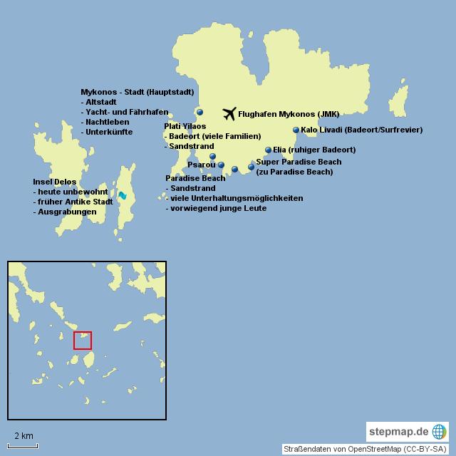 Karte Griechenland Mykonos.Mykonos Tourismus Von Gugelhupf1990 Landkarte Für Griechenland