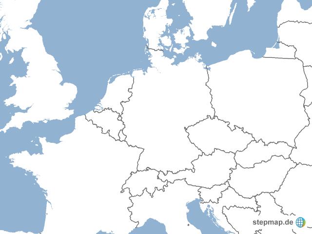 nachbarl nder deutschlands von sebsek landkarte f r europa. Black Bedroom Furniture Sets. Home Design Ideas