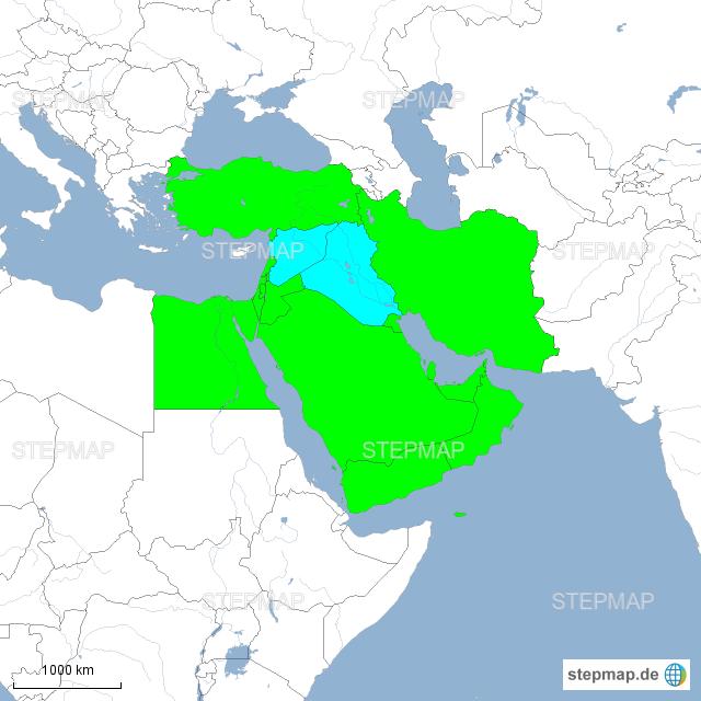 Syrien Irak Karte.Naher Osten Syrien Irak Von Theror Landkarte Für Ostafrika