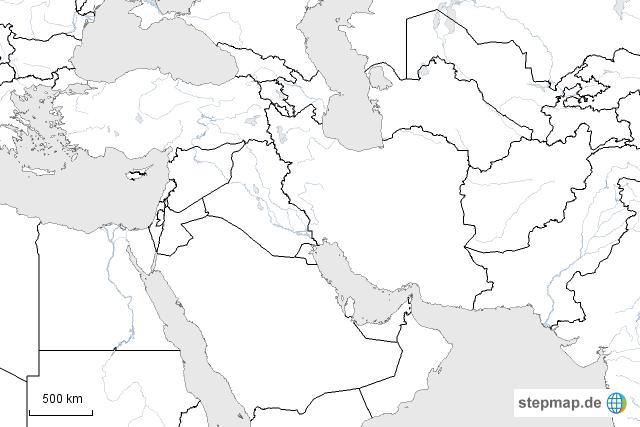 Nahost Karte.Nahost Von Manjare Landkarte Für Asien