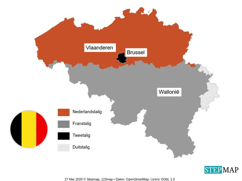 Landkarte: Nederland