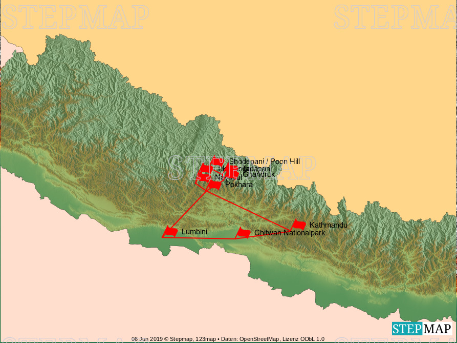 Landkarte: nepal