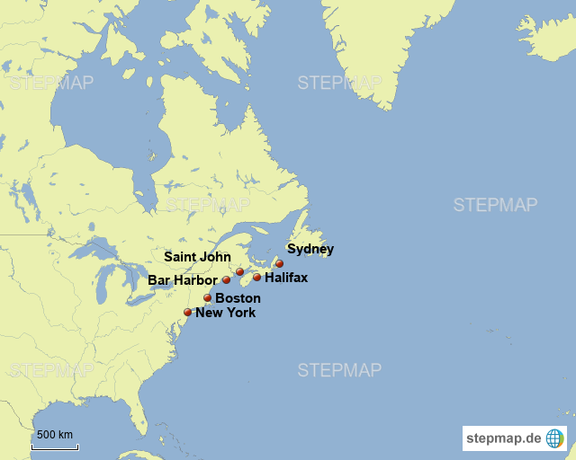 New England von Muldental - Landkarte für Deutschland